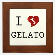 I Love Gelato Framed Tile