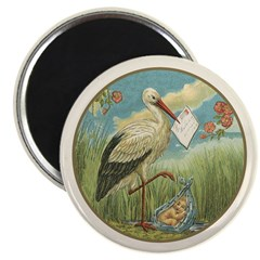 "Baby Boy Birth Announcement 2.25"" Magnet-100p"