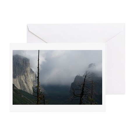 Yosemite Valley Clouds Greeting Card