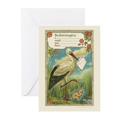 Baby Boy Birth Announcement Greeting Cards (20 Pk)
