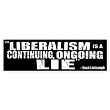"""Ongoing Lie"" Bumper Bumper Sticker"