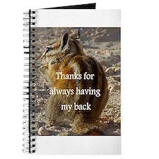 Journal - Thanks for always having my back