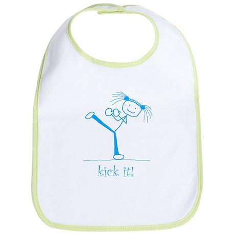 kick it! (blue) Bib