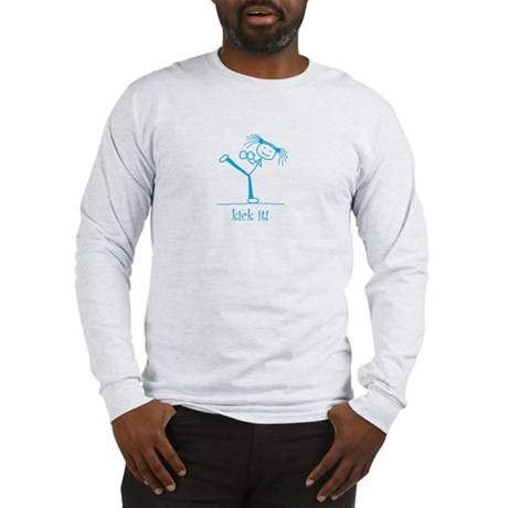 kick it! (blue) Long Sleeve T-Shirt