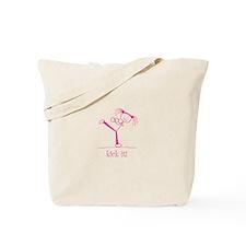 kick it! (pink) Tote Bag