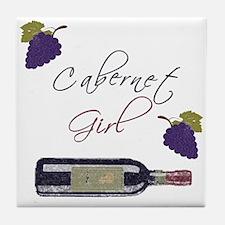 Cabernet Girl Tile Coaster