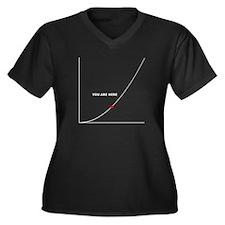 Cute Technological Women's Plus Size V-Neck Dark T-Shirt