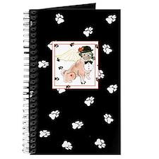Gulliver's Angels Dudley Pug Black Paw Journal