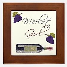 Merlot Girl Framed Tile