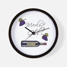Merlot Girl Wall Clock