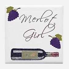 Merlot Girl Tile Coaster