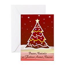 Xmas Tree - italian Greeting Card