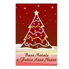 Xmas Tree - italian Postcards (Package of 8)
