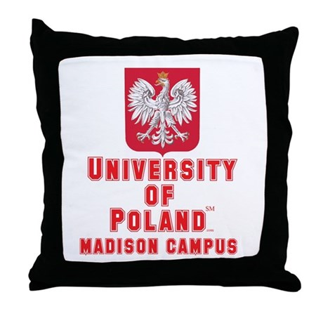 University of Poland - Madison Campus Throw Pillow
