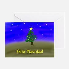 Xmas Evergreen - spanish Greeting Card