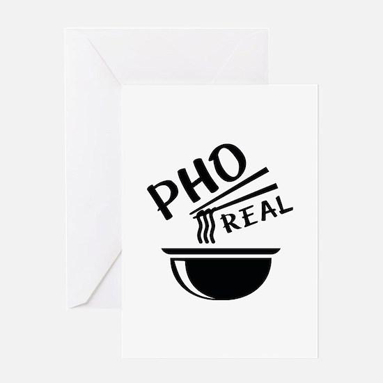 Pho Real Greeting Card