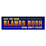 Obama Blames Bush Bumper Sticker