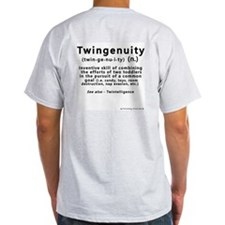 Twin Definitions - Twingenuity Ash Grey T-Shirt