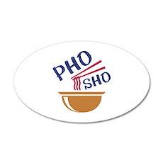 Pho Sho 22x14 Oval Wall Peel