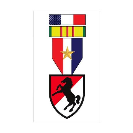 11th ACR Vietnam Service Rectangle Sticker