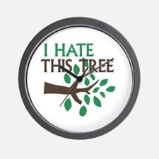I Hate This Tree Wall Clock
