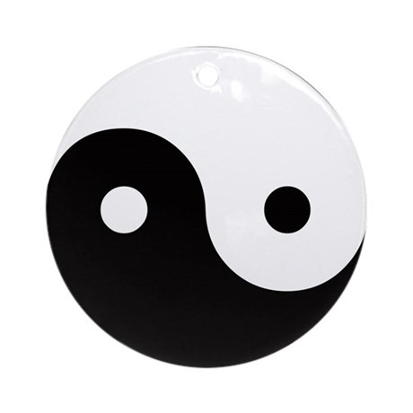 Yin and Yang Ornament (Round)