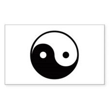 Yin and Yang Rectangle Decal