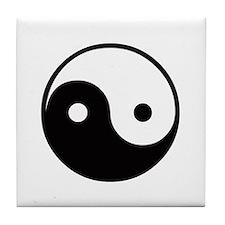 Yin and Yang Tile Coaster
