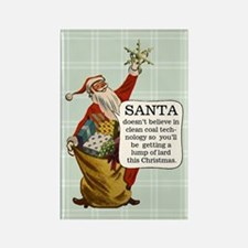Santa Claus Fridge Rectangle Magnet