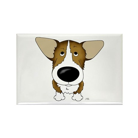 Big Nose Corgi Rectangle Magnet (10 pack)