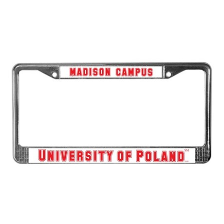 University of Poland - Madison Campus License Plat