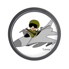 Child Fighter Jet Pilot Wall Clock