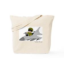 Child Fighter Jet Pilot Tote Bag
