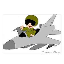 Child Fighter Jet Pilot Postcards (Package of 8)