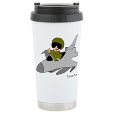 Child Fighter Jet Pilot Travel Coffee Mug