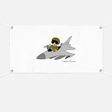 Child Fighter Jet Pilot Banner