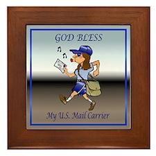 Mail Carrier Framed Tile