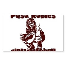 PASO ROBLES GIRLS SOFTBALL (3 Rectangle Decal