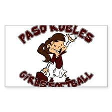 PASO ROBLES GIRLS SOFTBALL (6 Rectangle Decal