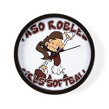 PASO ROBLES GIRLS SOFTBALL (6 Wall Clock
