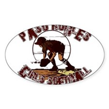 PASO ROBLES GIRLS SOFTBALL (7 Oval Decal