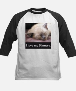 Siamese Cat Kids Baseball Jersey