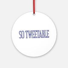 Tweets Ornament (Round)