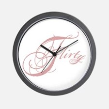 Flirty Girl Wall Clock