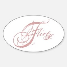 Flirty Girl Oval Decal
