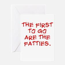 Fatties Greeting Card