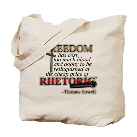 """Freedom for Rhetoric"" Tote Bag"