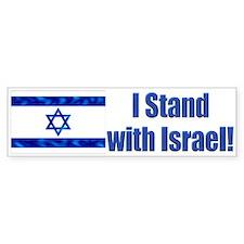 I Stand with Israel! Bumper Bumper Bumper Sticker