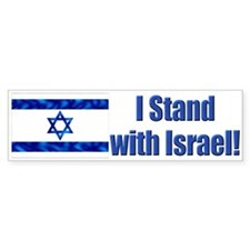 I Stand with Israel! Bumper Stickers