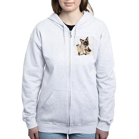 Siamese Cats Women's Zip Hoodie